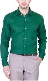 Akaas Green Full sleeves Formal Shirt For Men