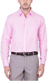 Akaas Pink Full sleeves Formal Shirt For Men