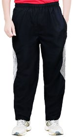 Akaas Black Polyester Trackpant For Men