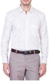 Akaas White Full sleeves Formal Shirt For Men