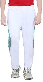 Akaas White Polyester Trackpant For Men