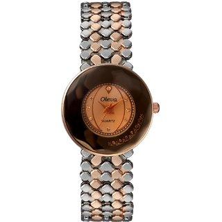 Oleva Ladies  Premium Metal Watch OMW-7-GOLD BLACK