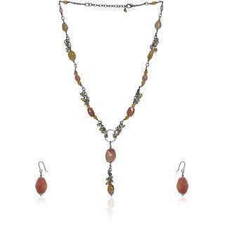 Glossy Necklace Set With Bracelet EC000029