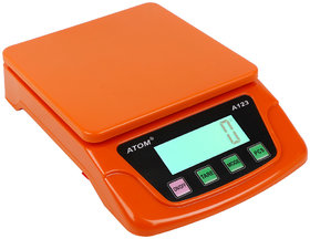 ATOM-A-123 Multipurpose Digital Kitchen Weighing Scale measuring upto 12 Kg of Fruits,Spice,Food,Vegetable and more with large LCD Screen display