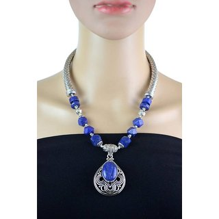 Fabstreet Blue Alloy Necklace