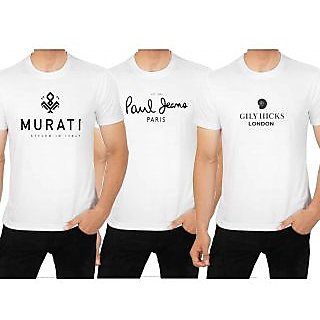 Trendy Fashion T shirts pack of three for men