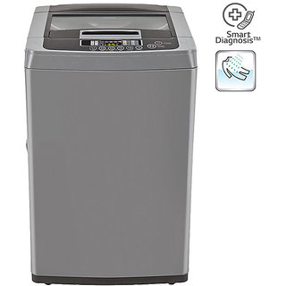 LG T7567TEDLH 6.5 KG Top Load Fully Automatic Washing Machine - MIDDLE FREE SILVER/ DEEP BROWN