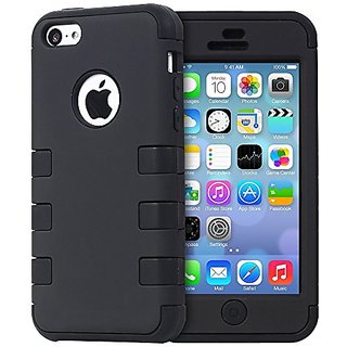 Iphone 4 4s Case Osurce Full Protection Heavy Duty Hybrid Soft Silicone Rugged Armor Hard Inner Cover For Le Shock Absorbing Black
