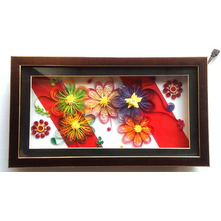d65d68746cf6 buy paper quilled flowers with multicolor led inside and with frame rh shopclues  com