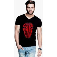 Trendmakerz Men's Black V-Neck T-Shirt
