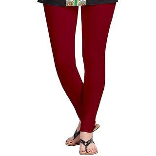 Women's Cotton Slim Fit Brown Leggings