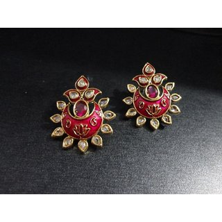 Charming Earring Adorned With Kundans