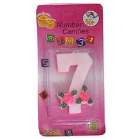Birthday Candle  Year 7  (Multicolor, Pack of 1)