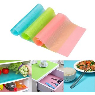 Anti-slip mutli purpose fridge mat washable and anti funguil  Eva material SET OF 2) multicolour