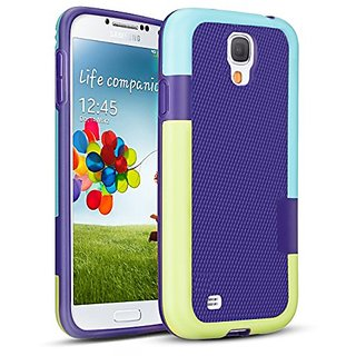 Galaxy S4 Case, TILL(TM) [Ultra Slim] 3 Color Hybrid Dual Layer Shockproof Case Extra Front Raised Lip Soft TPU & Hard PC Bumper Protective Case Cover for ...