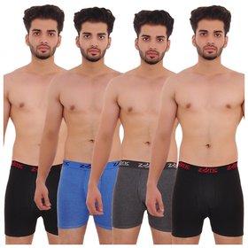 Zotic Men's Trunk 'H' Underwear For Men - Pack Of 4