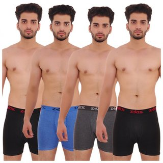 Zotic Men's Trunk 'H' Underwear For Men - Pack Of 4