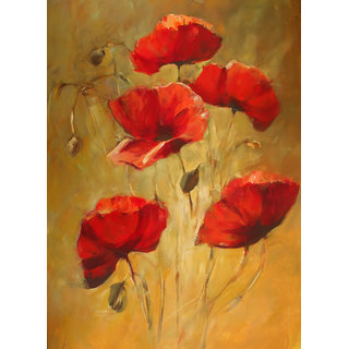 Poppy flowers painting 12 x 18 inch laminated poster buy poppy poppy flowers painting 12 x 18 inch laminated poster mightylinksfo Image collections