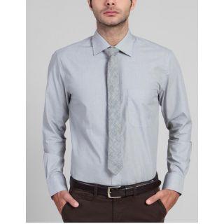Peter England Grey Shirt(Design 24)
