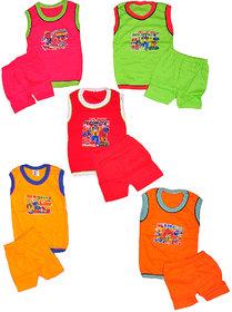 Pari  Prince Kids Hosiery Baba suit (Pack of 5)