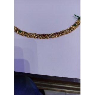 Multi colour stone bracelet gold plated