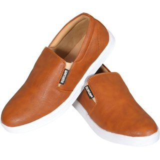 Sukun Loafer Slip On Tan Casual Shoes