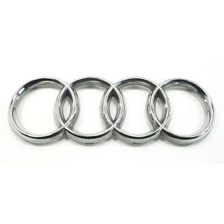 LOGO AUDI CAR REAR EMBLEM BADGE MONOGRAM EXCELLENT QUALITY 3M TAPE AT BACK  size 20cm