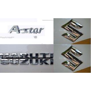 Logo MARUTI SUZUKI ASTAR A-STAR Monogram Chrome Car Monogram Emblem BADGE FAMILY PACK