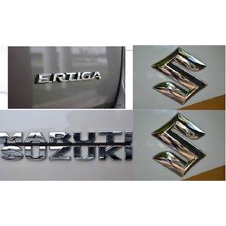 Logo MARUTI SUZUKI ERTIGA Monogram Chrome Car Monogram Emblem BADGE FAMILY PACK