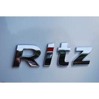 Logo MARUTI SUZUKI RITZ Monogram Chrome Car Monogram Emblem BADGE