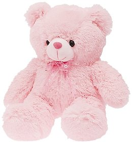 Stuff Pink Bear with Bow Soft Toy, Pink (50cm)