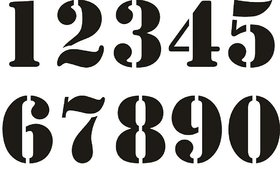 Numbers Stencils for paints