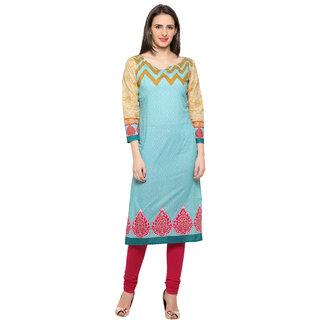 Ahalyaa Full Sleeves Digital Printed Cotton Kurti for Women