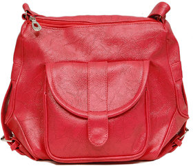 Borse B2 Pink Front Pocket With Buckles Sling Bag