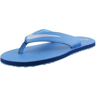 brand new 879a7 a6fb4 Nike Mens Blue Slippers