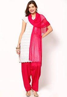Elegant Ethnic Chiffon Solid Dupatta Pink