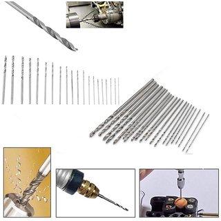 20pc HSS High Speed Steel Twist Drill Bit Set Tool Case 0.3mm-1.6mmh