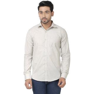 Kalpatru Cotton Beige Formal Solid Shirt for Men