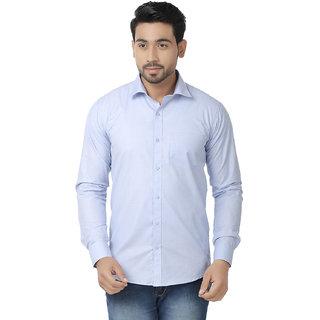 Kalpatru Cotton Blue Formal Solid Shirt for Men