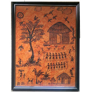 Buy warli painting with frame online get 4 off warli painting with frame thecheapjerseys Image collections