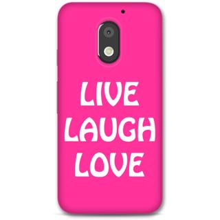 Moto E3 Power Designer Hard-Plastic Phone Cover From Print Opera -Live Laugh Love