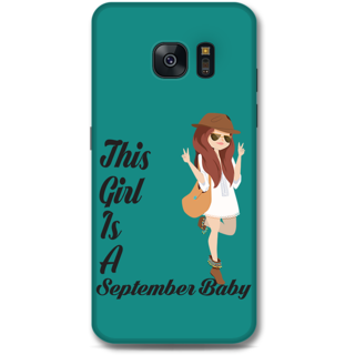 Samsung Galaxy S7 Designer Hard-Plastic Phone Cover From Print Opera -September Baby Girl