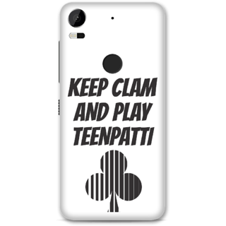 HTC 10 Pro Designer Hard-Plastic Phone Cover From Print Opera -Keep Calm And Play Teenpatti