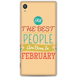 Sony Xperia Z5 Premium Designer Hard-Plastic Phone Cover From Print Opera -All Best People Born In February