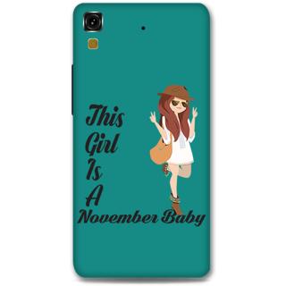 Micromax Yureka Designer Hard-Plastic Phone Cover From Print Opera -November Baby Girl