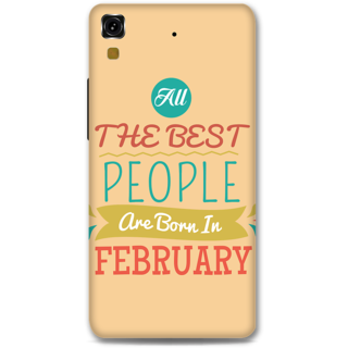 Micromax Yureka Designer Hard-Plastic Phone Cover From Print Opera -All Best People Born In February