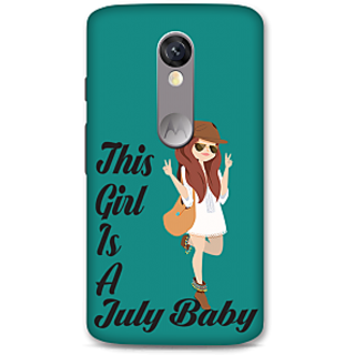 Moto X Force Designer Hard-Plastic Phone Cover From Print Opera -July Baby Girl