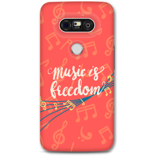 Lg G5 Designer Hard-Plastic Phone Cover From Print Opera - Music Is Freedom