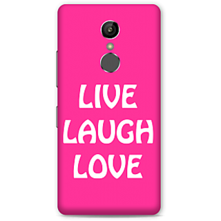 Gionee S6S Designer Hard-Plastic Phone Cover From Print Opera -Live Laugh Love