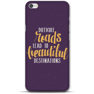 IPhone 6-6s Designer Hard-Plastic Phone Cover From Print Opera -Difficult Roads Lead To Difficult Destinations